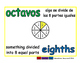 eighths/octavos meas 1-way blue/verde