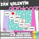 el Día de San Valentín Domino Game - Valentine's Day Dominoes
