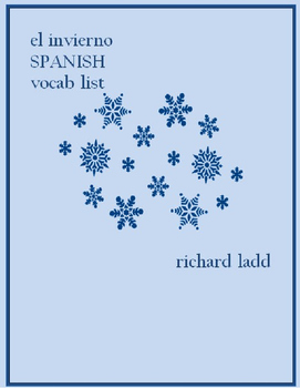 el invierno SPANISH winter vocabulary