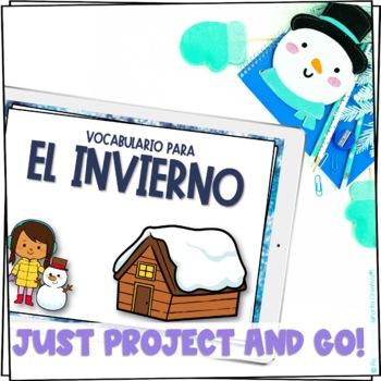 el invierno Vocab Powerpoint with Pictures and Vocab List (Winter Terms)
