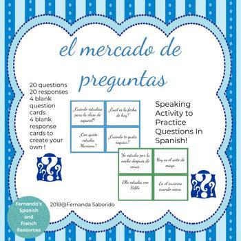 el mercado de preguntas - Spanish Questions - Speaking Activity - Interrogatives