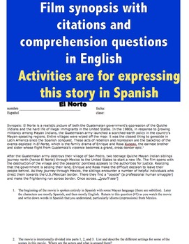 el norte film questions and activities for 2 week unit