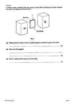 electromagnetism core and extended questions