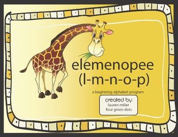 elemenopee, a beginning alphabet program
