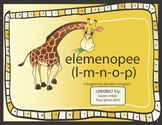 elemenopee, a beginning alphabet program