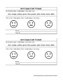 Elementary Art Exit Ticket: Colors