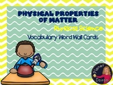 elementary properties of matter vocabulary word wall cards