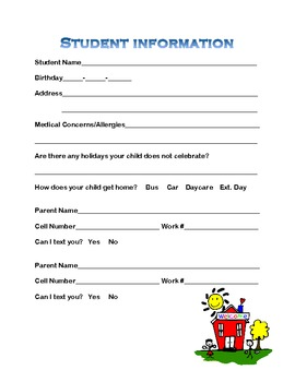 elementary student info