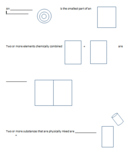 elements compounds mixtures interactive notebook pages and