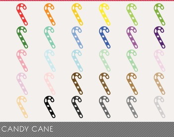 Candy Cane Digital Clipart, Candy Cane Graphics, Candy Cane PNG