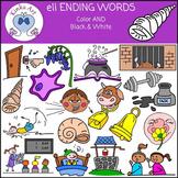 ell Ending Words Clip Art
