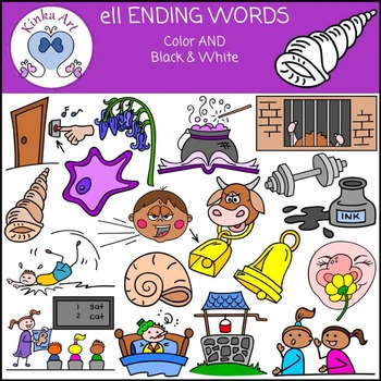 ell Ending Words Clip Art