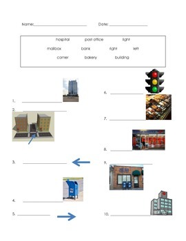 ell spelling picture vocabulary CITY test