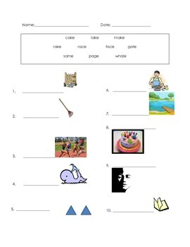 ell spelling picture vocabulary LONG A test