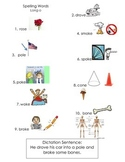 ell spelling picture vocabulary list long o silent e