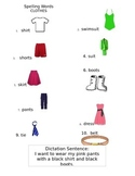 ell spelling picture vocabulary list clothes