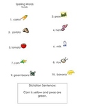 ell spelling picture vocabulary list foods