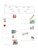 ell spelling picture vocabulary long o silent e test