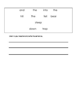 ell spelling picture vocabulary TR and ST blends test