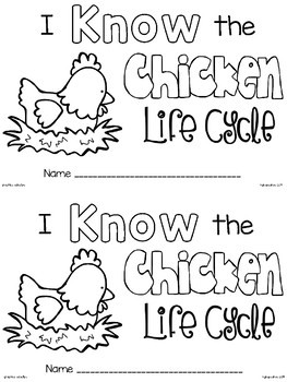 emergent reader: i know the chicken life cycle