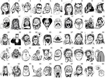 emojis-hand drawn-teacher related-PNG & JPEG files