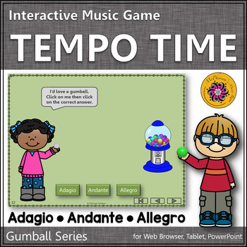 Tempo Time with Adagio, Andante and Allegro Interactive Music Game (gumball)