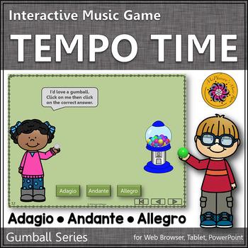 Tempo Time with Adagio, Andante and Allegro Interactive Mu