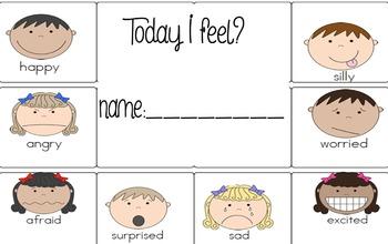 Feelings/emtions punch card idea !!!
