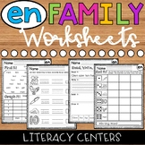 EN Word Family Worksheets - EN Family Worksheets - EN Worksheets