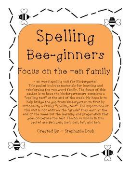"""""""en"""" family activities, spelling beginners"""