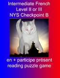 en + participe présent reading puzzle game