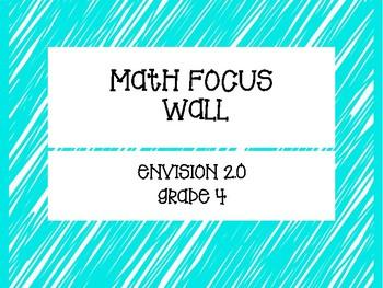 enVision 2.0 (2016) Math Focus Wall Grade 4 Full Size NO GRAPHICS