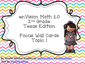 enVision 2.0 Focus Wall Cards Topic 1