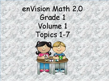 enVision 2.0 Grade 1 I can statements  (volume 1 Topics 1-7)