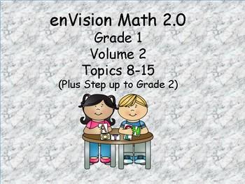 enVision 2.0 Grade 1 I can statements  (volume 2 Topics 8-15)