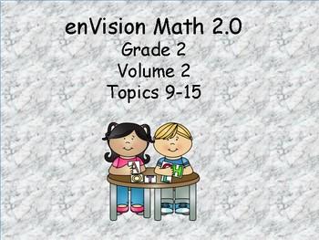 enVision 2.0 Grade 2 I can statements  (volume 2 Topics 9-15)