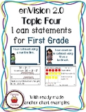 enVision 2.0 Math I can statements for Topic Four-First Grade