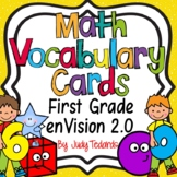 enVision 2.0 Math Vocabulary Cards for First Grade