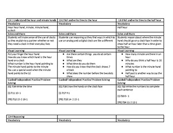 enVision 2.0 Topic 13 Lesson Plan 1st Grade