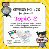 enVision 2.0 Topic 2 (Multi-Digit Addition and Subtraction) Grade 4 Resources