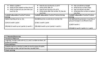 enVision 2.0 Topic 7 Lesson Plan 1st Grade