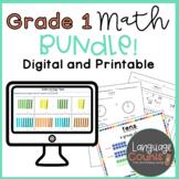 Digital and Printable 1st Grade Math Year-Long Bundle- Wor