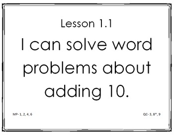 enVision 2.0 I Can Statements Topic 1 Grade 1