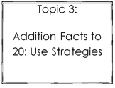 enVision 2.0 I Can Statements Topic 3 Grade 1