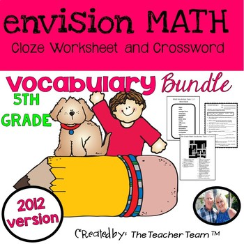 enVision Math 5th Grade Common Core 2012  Vocabulary Activities Bundle