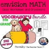 enVision Math 5th Grade Common Core 2012 Vocabulary Activities Bundle