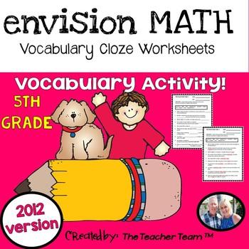 enVision Math 5th Grade Common Core 2012 Vocabulary Activities
