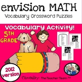 enVision Math 5th Grade Common Core 2012 Crossword Puzzles Topics 1-16