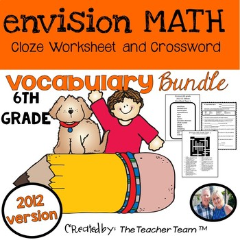 enVision Math 6th Grade Common Core 2012 Vocababulary Bundle
