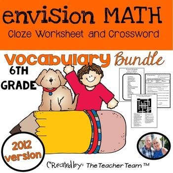 enVision 6th Grade Common Core 2012 Cloze & Crossword Puzz